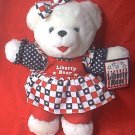 FOURTH OF JULY LIBERTY TEDDY BEAR ~1998 ~CUTE