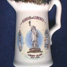 STATUE OF LIBERTY SOUVENIR CREAMER PITCHER ~VINTAGE~GOLD TRIM~NEW YORK