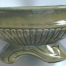 VINTAGE 40'S-50'S POTTERY FLOWER PLANTER ~ HULL? McCOY ? OLIVE GREEN/FOAM