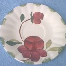 BLUE RIDGE~SOUTHERN POTTERIES INC~SAUCER~VIBRANT~HAND PAINTED~FLOWER