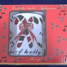 DECK THE HALLS CHRISTMAS MUG ~ORIGINAL BOX~UNUSED~CANDY CANES , HOLLY~NICE