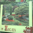 M BRADLEY BIG BEN JIGSAW PUZZLE ~1000 PCS~GARDENS IN CANADA~COMPLETE~PRETTY