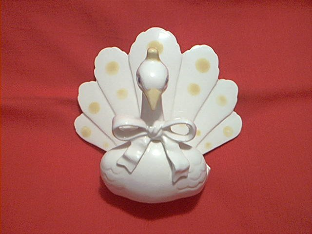 PEACOCK SWAN TURKEY BIRD LETTER OR NAPKIN HOLDER ~VINTAGE JAPAN~ARDALT ARTWARE
