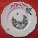 BURLEIGH WARE IRONSTONE SALAD PLATE ~TERRACE WHITE~DECORATED