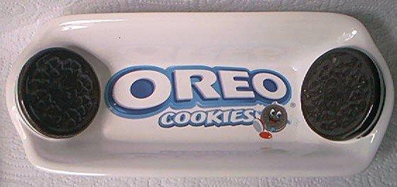 OREO COOKIES ADVERTISING SERVING DISH ~LOOKS LIKE REAL COOKIES