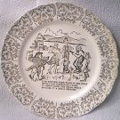 SHOTGUN WEDDING POEM PLATE ~FAIRWAY MFG~1949~GOLD TRIM~SHOWER GIFT~ANNIV.