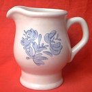 PFALTZGRAFF YORKTOWNE CREAMER PITCHER ~STONEWARE~EARLY AMER DESIGN~BLUE FLOWERS