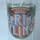 DAVE AND BUSTER'S SPRING FLING 2002 TALL SHOT GLASS