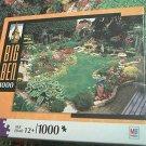 M BRADLEY BIG BEN JIGSAW PUZZLE ~FLOWER GARDEN ESSEX ENGLAND~COMPLETE~GARDEN