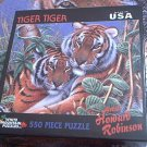 WHITE MOUNTAIN JIGSAW PUZZLE ~HOWARD ROBINSON~TIGER TIGER~COMPLETE~BIG CATS