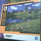 M BRADLEY BIG BEN JIGSAW PUZZLE ~BAVARIA GERMANY~COMPLETE~ FLOWERS