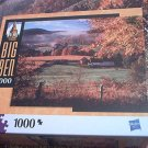 M BRADLEY BIG BEN JIGSAW PUZZLE ~BARNET VERMONT USA~COMPLETE~ FALL LEAVES