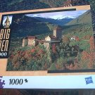 M BRADLEY BIG BEN JIGSAW PUZZLE ~SOUTH TYROL ITALY~COMPLETE~MTN VALLEY~CASTLE