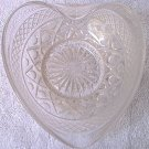VINTAGE HEART-SHAPED GLASS DISH ~ CLEAR~VERY PRETTY