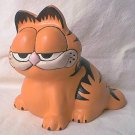LARGE CERAMIC GARFIELD FIGURINE ~COMIC CAT~ORANGE/BLACK EXC. CONDITION