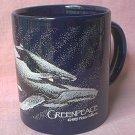 GREENPEACE WHALE AND CALF MUG Peter Folkens 1985