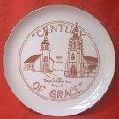 CENTURY OF GRACE COMMEMORATIVE CHURCH PLATE ~ST. JOHN'S EVANGELICAL LUTHERAN~FLANAGAN, ILL~1984
