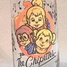HARDEE'S 1985 PROMOTIONAL ADVERTISING GLASS ~THE CHIPETTES