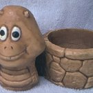CUTE VINTAGE C.A.P. SNAIL CANDLE HOLDER OR PLANTER 1980