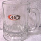 A AND W ALL AMERICAN FOOD ADVERTISING GLASS MUG ~3.5 IN