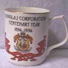 DOUGLAS CORPORATION CENTENARY YEAR 1996 MUG ~STAFFORDSHIRE ENGLAND