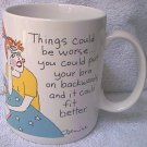 HALLMARK SHOEBOX GREETINGS DENISE MUG ~1987~THINGS COULD BE WORSE~FUNNY
