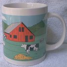 COWS AND BULL FARM SCENE MUG ~COLORFUL~2000