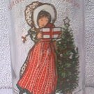 HOLLY HOBBIE COCA COLA CHRISTMAS PROMOTIONAL ADVERTISING GLASS 1981