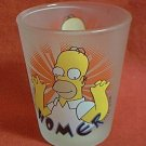 HOMER SIMPSON FROSTED SHOT GLASS  ~DOWNPACE ORIGINAL EDITION 1