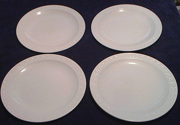 VINTAGE HILTON HOTEL DINNER PLATES CHARGERS BY CORNING ~SET OF 4~ALL WHITE~NICE & VINTAGE HILTON HOTEL DINNER PLATES CHARGERS BY CORNING ~SET OF 4~ALL ...