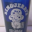 BEN AND JERRY'S ICE CREAM ADVERTISING SHOT GLASS ~COBALT BLUE