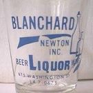 BLANCHARD NEWTON INC LIQUOR ADVERTISING SHOT GLASS