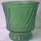 VINTAGE EMERALD GREEN BRODY ? GLASS VASE ~4.5 IN.