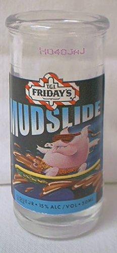 TGI FRIDAY'S ADVERTISING LIQUEUR SHOT GLASS ~MUDSLIDE~PIG ON SURF BOARD