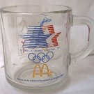 1984 LOS ANGELES XXIII OLYMPICS MCDONALDS ADVERTISING GLASS MUG