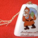 """VINTAGE MADE IN JAPAN SANTA CLAUS BELL CHRISTMAS ORNAMENT~ """"DON'T OPEN UNTIL CHRISTMAS"""""""