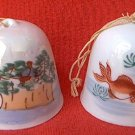 VINTAGE CHRISTMAS BELL ORNAMENTS ~2~ JAPAN~HAND PAINTED~FISH