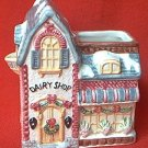 DAIRY SHOP COTTAGE CREAMER PITCHER ~1995~COSMOS CHRISTMAS AROUND THE WORLD~CLEVER DESIGN