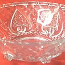 HEARTS - DIAMONDS -ROSES CLEAR GLASS BOWL DISH ~beautiful