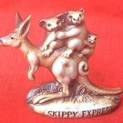 SWAGMAN POTTERY~SKIPPY EXPRESS KANGAROO AND KOALA FIGURINE~AUSTRALIA