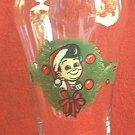 BIG BOY RESTAURANT AND BAKERY ADVERTISING PROMO CHRISTMAS GLASS