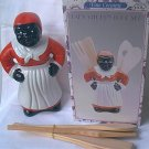 BLACK MEMORABILIA MAMMY LADY KITCHEN UTENSIL TOOL CADDY SET ~MINT IN BOX~NEW~NEVER USED