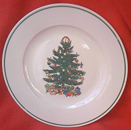 & BADCOCK CHRISTMAS TREE DINNER PLATE ~10.25 IN~ADVERTISING