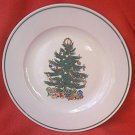 BADCOCK CHRISTMAS TREE DINNER PLATE ~10.25 IN~ADVERTISING