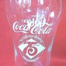COCA COLA COKE ADVERTISING 75TH ANNIVERSARY COMMEMORATIVE GLASS ~ 1902-1977~FLORIDA BOTTLING