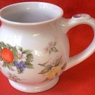 ANDREA BY SADEK MUG WITH TEA BAG POUCH~ JAPAN~BOTANICAL FRUIT~PRETTY~12 ounces