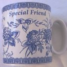 SPODE BLUE AND WHITE BLUE ROOM SPECIAL FRIEND MUG ~PRETTY~GREAT GIFT