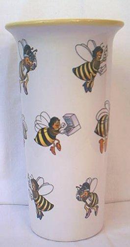 BUMBLEBEES TELEFLORA BEES VASE 1998 7 IN