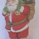SANTA CLAUS CHRISTMAS ORNAMENT FIGURINE ~4.5 IN~PORCELAIN~hangs or stands alone