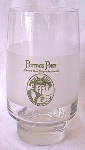 PITTYPAT'S PORCH RESTAURANT FROSTED ADVERTISING GLASS TUMBLER~ATLANTA GA